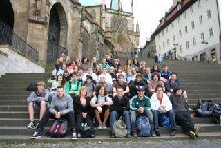 Exkursion auch zu Fuße des Erfurter Domes