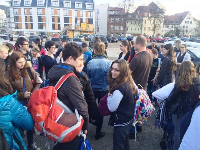 Im April 2018 empfangen wir wieder französische Schüler