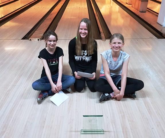 Stolze Siegerinnen: Emilia, Pauline und Lilith aus der Klasse 6b