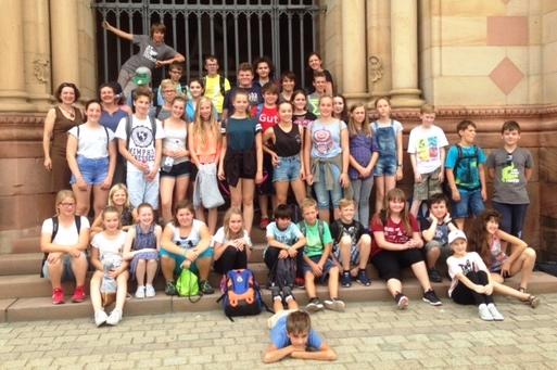 Kontakte wurden schnell geknüpft zwischen den Schülern aus Gießen, Jena und Deidesheim