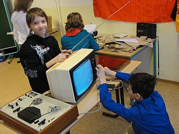 Alle alten technischen Geräte fanden großes Interesse