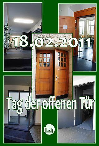Die Türen werden morgen geöffnet für unsere Gäste