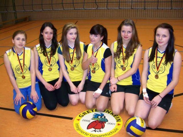 In der WK II erfolgreich: Anne, Caroline, Jördis, Annie, Lucie und Lena