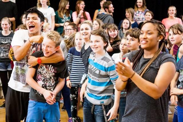 1 1/2 Tage intensive Arbeit in Musik und Tanz. So schlimm scheint es ja gar nicht zu sein ...(Foto: S. Reuter)