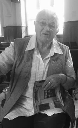 Ruth Dorsch, im August 2016 in unserer Aula zum 25. Bestehen der IGS