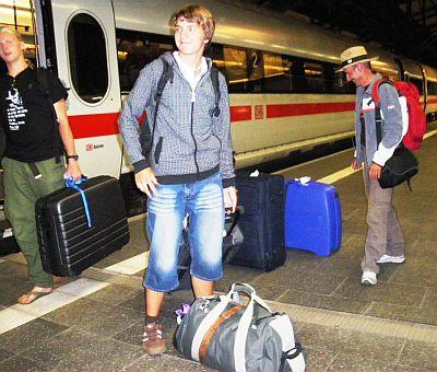 Gegen 23.45 Uhr traf der ICE in Erfurt ein - alle Teilnehmer müde und glücklich zugleich.