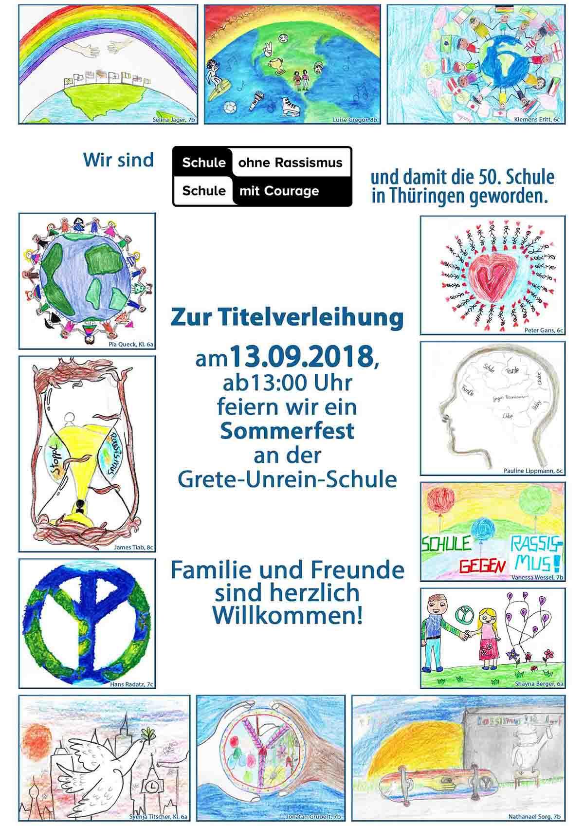 Plakat zum Schulfest