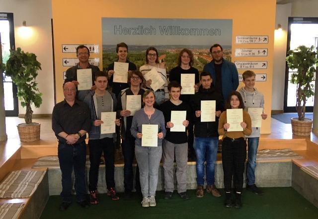 Angelique, Alexia, Soffi, Marvin, Mìko, Paul, Hans, Marius, Thomas und Nelio vertraten die IGS würdevoll in Naumburg zur SchulBrücke Europa.