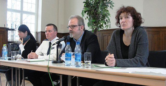 Berichtete vom derzeitigen Stand der Dinge: René Treunert, Leiter der Polizeidirektion Jena