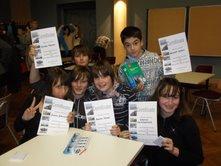 Annika, Janika, Hannes, Benedikt, Alexander und Schenja aus unseren 7. Klassen haben sich in der englischen Sprache bestens behauptet.