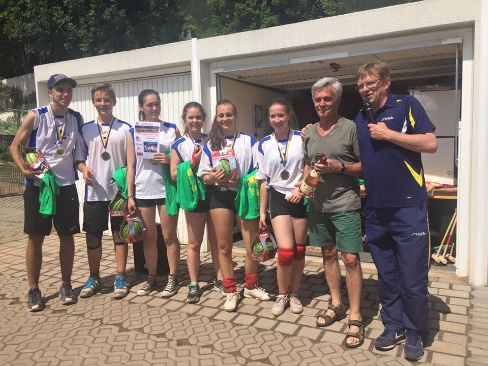 Ganz knapp gewonnen, die Volleyballer vom Schott-Gymnasium