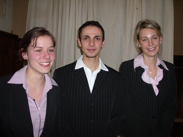 Soraya, Claudia und Klemens