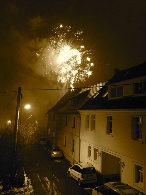 Mit viel Knallerei wurde auch in Jena wieder ein neues Jahr begrüßt.