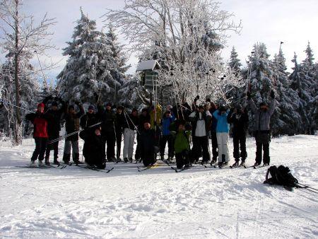 Alle gesund, alle gut drauf, die Teilnehmer des Skilagers  in Siegmundsburg