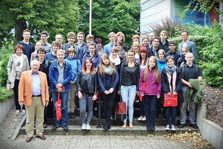 Teilnehmer der Studienfahrt, vorn links Prof. Dr. Dr. Heiner Timmermann
