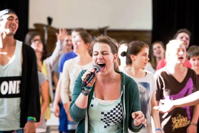 (Fotos: SR) Schon während des Workshops - voller Einsatz - Miriam!
