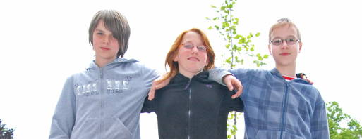 Standen Rede und Antwort: Cedric, Maximilian und Isabelle / Foto: Th. Stridde/OTZ