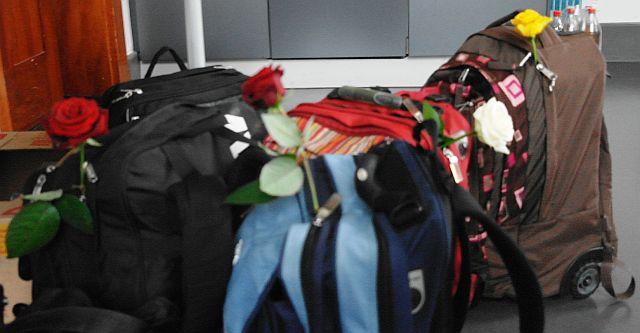 Die Taschen bleiben (vorerst) ungewogen.