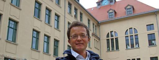 Lehrer Toralf Schenk erhält keine Verlängerung als Lehrer an Grete-Unrein-Schule.